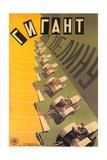 Russian Tractor Film Poster Lámina giclée prémium
