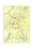 Map of Zion National Park Posters