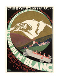 Poster for Mont Blanc Tour 高品質プリント
