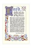 St. Francis Prayer Kunstdrucke