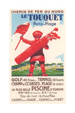 French Golf Travel Poster Lámina