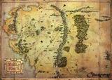 The Hobbit - Journey Map Poster