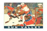 Sun Valley, Hockey Game Prints