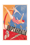 Russian Athletes Film Poster Lámina giclée prémium
