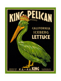 Green Pelican Crate Label Kunst