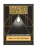 Ad for Allgemaine Electricitaet Gesellshaft Poster