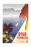Travel Poster for Garda Lake Giclée-Premiumdruck