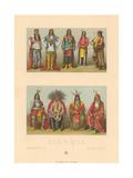 Costumes of Native America Print