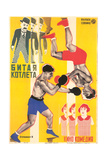 Russian Boxing Film Poster Reproduction giclée Premium