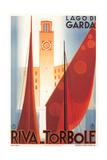 Travel Poster for Garda Lake Posters