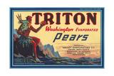 Crate Label for Triton Pears Kunstdrucke