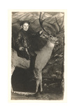 Boy Riding Stuffed Deer Pósters