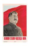 Joseph Stalin in Uniform Posters