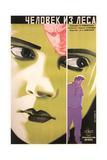 Russian Woman's Green Face Poster Art