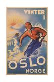 Skiing in Oslo, Norway Premium Giclee Print