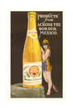 Ad for Mexicali Beer Premium Giclée-tryk
