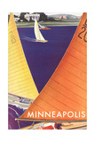 Sailboats, Minneapolis Prints