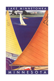 Sailing on Lake Minnetonka Poster