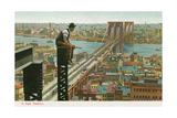 Overlooking the Brooklyn Bridge Kunstdruck