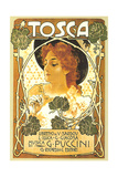 Art Nouveau Poster for Tosca Poster