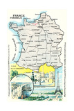Map of France Affiches