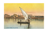 Dhow on the Nile by Luxor Poster