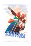Travel Poster for Cortina Affiches