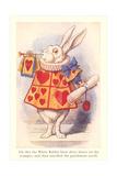 Alice in Wonderland, White Rabbit Premium Giclee Print