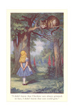 Alice in Wonderland, Cheshire Cat Giclée-Premiumdruck