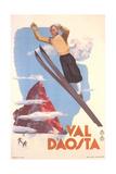 Ski Jumper, Val D'Aosta Kunstdrucke
