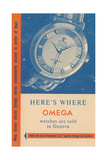 Where Omega Watches are Sold Posters
