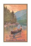 Adirondacks Travel Poster Giclée-Premiumdruck