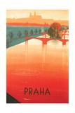 Prague Travel Poster Schilderij