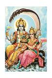 Vishnu and Lakshmi Prints