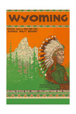 Travel Poster for Wyoming Poster
