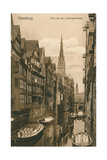 Canal in Old Hamburg, Germany Prints