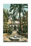 Alcazar Gardens, Seville, Spain Kunstdrucke