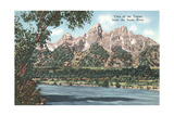 Vista of the Tetons from Snake River Poster