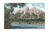 Vista of the Tetons from Snake River Arte