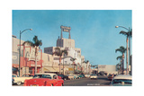 Beverly Drive in the Fifties Giclée-Premiumdruck