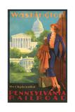 Washington, DC Travel Poster Kunstdruck