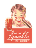 Ad for Sparkle Soft Drink Láminas