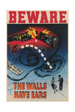 Beware, the Walls Have Ears Stampe