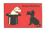 Happy Birthday Westie and Scottie Pósters