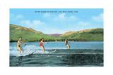 Water Skiers, Pineview Lake Poster