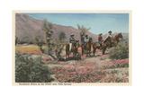 Horseback Riders Near Palm Springs Kunstdruck