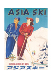 Asia Ski Travel Poster Affischer