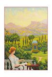 Garden Folly in Desert Posters