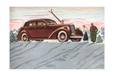 Cross-Country Skiing in the Forties Print