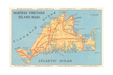 Map of Martha's Vineyard Posters